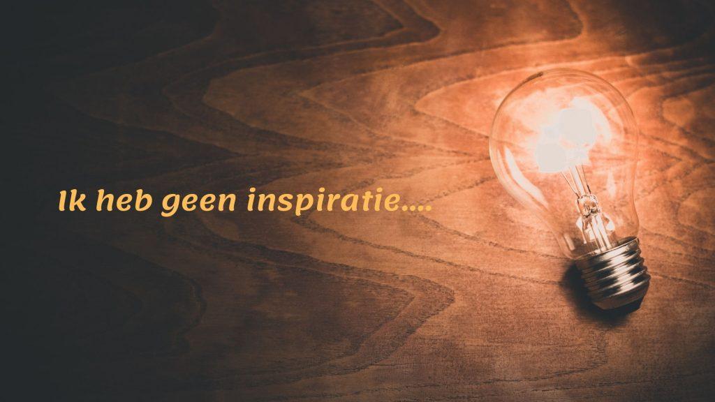 geen inspiratie voor blog